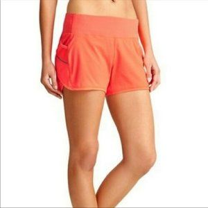 New Athleta S Ready Set Go 2 in 1 shorts orange